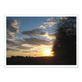 Sunset Harvest Photo Invitation Template