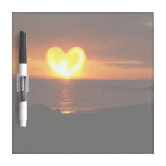 Sunset Heart Dry-Erase Whiteboards