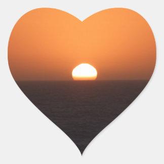 Sunset Heart Sticker