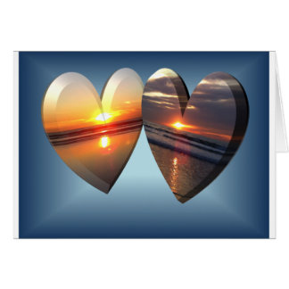 Sunset Hearts Card