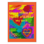 Sunset heARTs Greeting Card