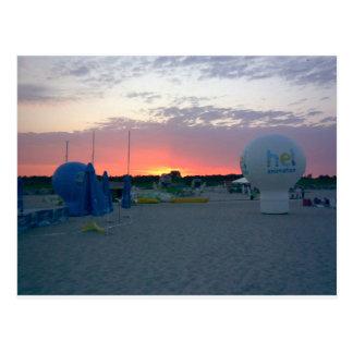 sunset Hel Poland Postcard