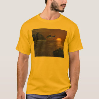 Sunset Helicopter T-Shirt