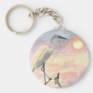 Sunset Herons Key Chain