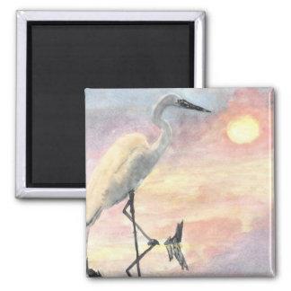 Sunset Herons Refrigerator Magnet