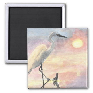 Sunset Herons Fridge Magnet
