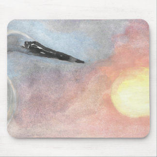 Sunset Herons Mouse Pad