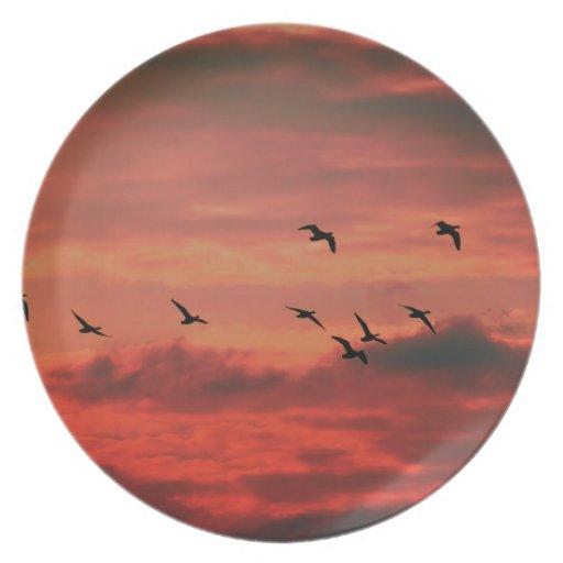 Sunset Hibernate Party Plate