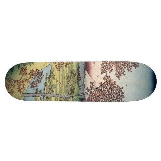 Sunset Hill, Meguro in the Eastern Capital. Skateboard Deck