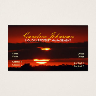 Sunset Holiday Business Card