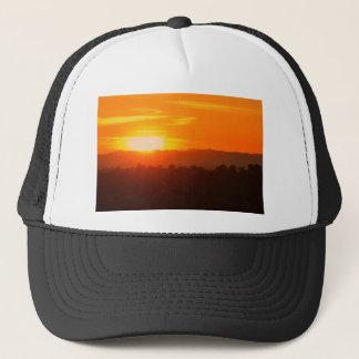 Sunset Hollywood Los Angeles Orange Sky Orange Sun Trucker Hat