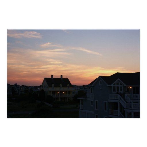 Sunset Homes Poster