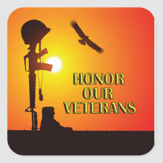 Sunset Honor Veterans Day Sticker