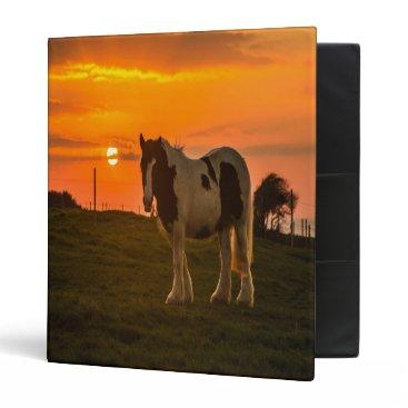 McTiffany Tiffany Aqua Sunset Horse 3 Ring Binder