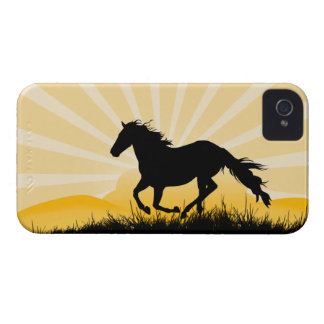 Sunset Horse iPhone 4 Cover