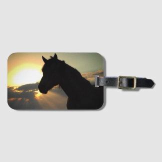 Sunset Horse Luggage Tag
