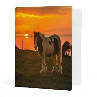McTiffany Tiffany Aqua Sunset Horse Mini Binder