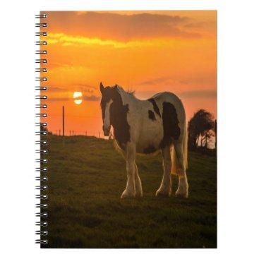 McTiffany Tiffany Aqua Sunset Horse Notebook