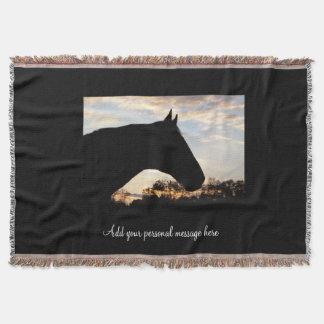 Sunset Horse Throw Blanket