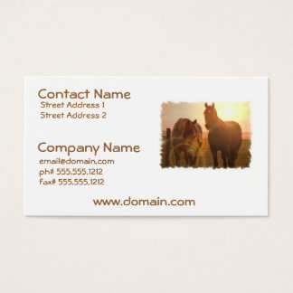 Sunset Horses  Business Card