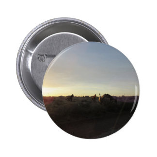 Sunset Horses 2 Inch Round Button