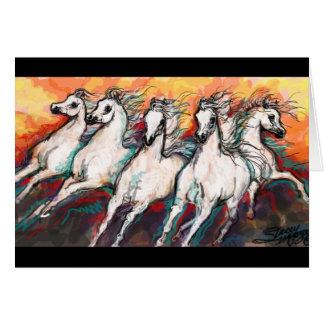 Sunset Horses Card