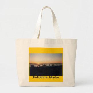 sunset hotel, Kotzebue Alaska Large Tote Bag