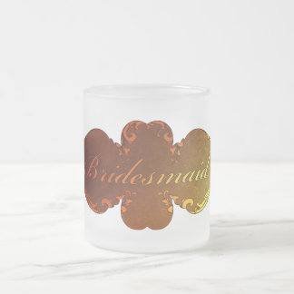 Sunset Hues Fall Wedding Bridesmaid  Design Frosted Glass Coffee Mug