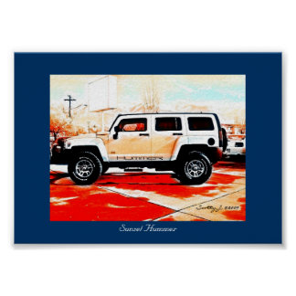 """Sunset Hummer"" © 2010 S.J. Posters"