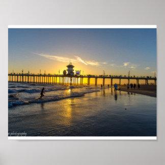 Sunset@Huntington Beach,CA Poster