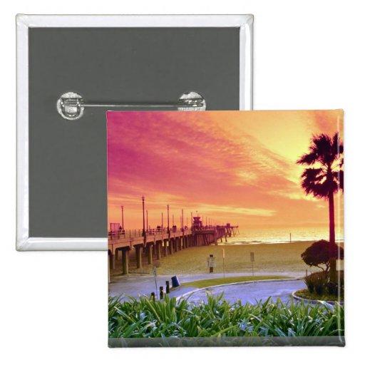 Sunset, Huntington Beach pier, California, U.S.A. Pin