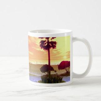 Sunset, Huntington Beach pier, California, U.S.A. Coffee Mug