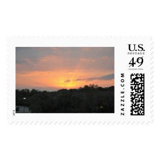 Sunset I Evening Postage Stamp