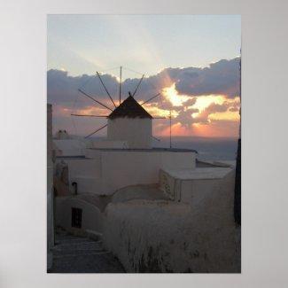 Sunset Ia Santorini Print