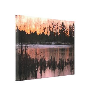 Sunset Impressions Stretched Canvas Print