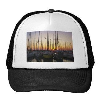 Sunset In A Marina Trucker Hat