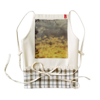 Sunset in a thin forest zazzle HEART apron