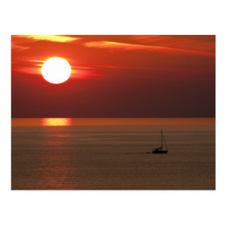 Sunset in Alanya Postcard
