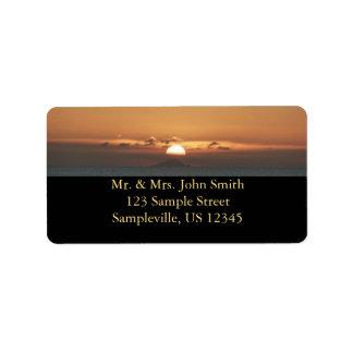 Sunset in Antigua Address Label