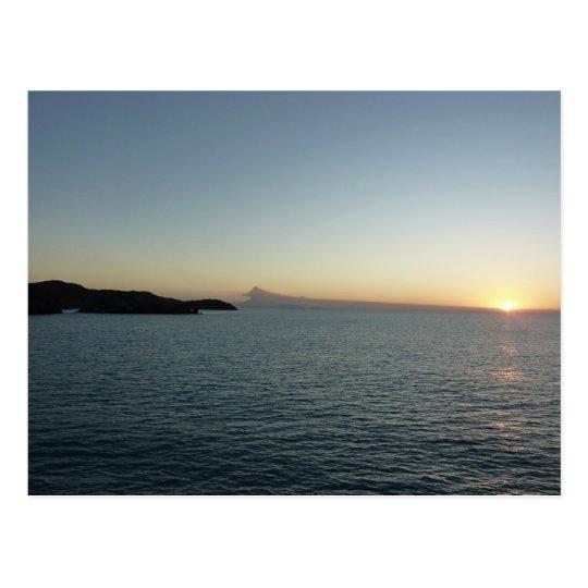 Sunset in Antigua II Seascape Photography Postcard