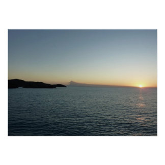 Sunset in Antigua II Seascape Photography Poster