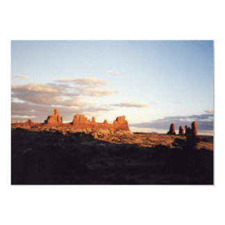 Sunset in Arches, Utah Card
