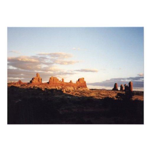 Sunset in Arches, Utah Custom Invites