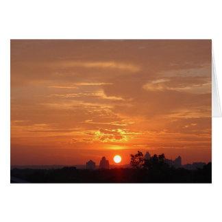 sunset in Austin texas Card