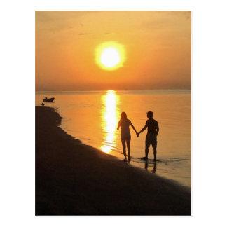 Sunset in Bali Postcard