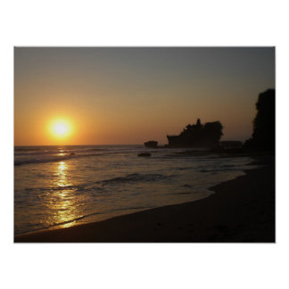 Sunset in Bali Poster