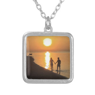 Sunset in Bali Silver Plated Necklace