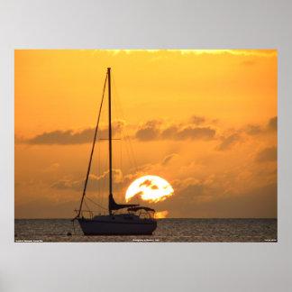 Sunset in Boqueron, Puerto Rico Canvas Print