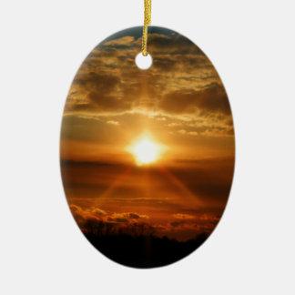 Sunset in Bowmanville 1 Ceramic Ornament