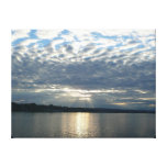 Sunset in British Columbia Canadian Seascape Gallery Wrapped Canvas